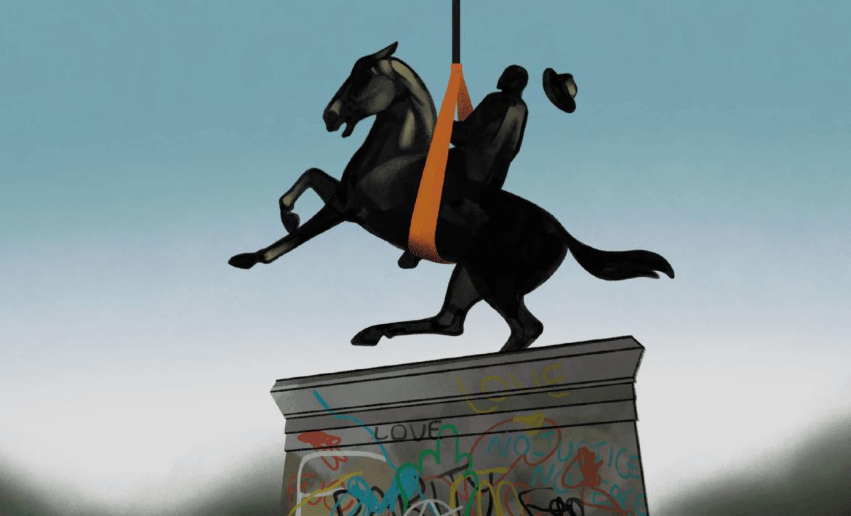 New Yorker Monument Illustraition